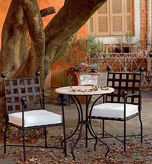 Столове и маса ковано желязо