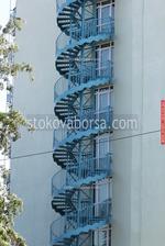 противопожарно стълбище право