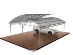 изграждане на навес от желязо за много автомобили
