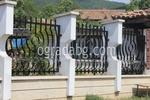 метални огради на зидана основа